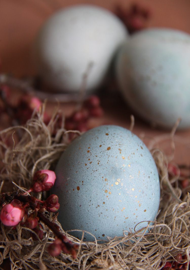 Dye Eggs Naturally with Red Cabbage they turn out a pretty Robin Egg Blue