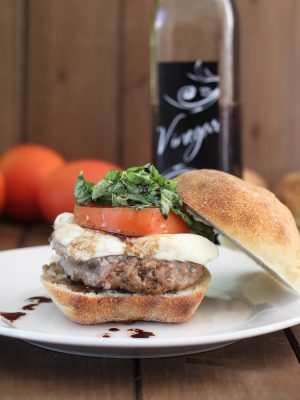 Bruschetta Turkey Burgers