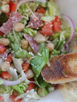 Italian Chop Salad with Garbanzo Beans