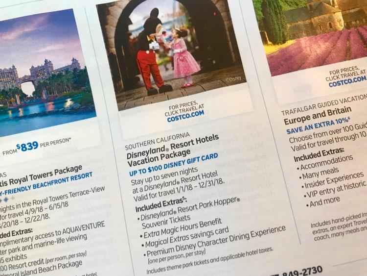 Disneyland Costco Package Deals
