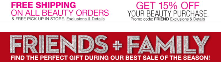 b927a70ab Macy's is taking an extra 15% off your entire beauty purchase during their  Friends & Family sale which is valid through 12/11. Simply use code FRIEND  at ...