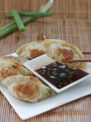 Homemade Gyoza with Dipping Sauce