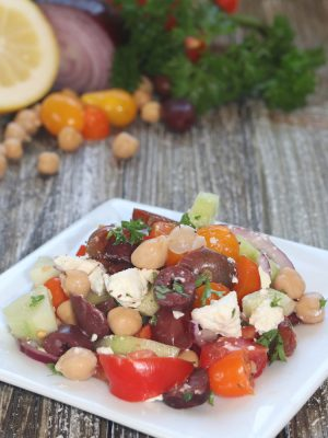 Mediterranean Greek Chickpea Salad