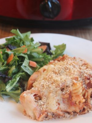 Slow Cooker Chicken Parmesan Casserole