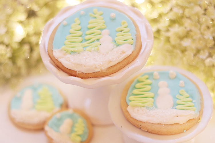 Winter Wonderland Sugar Cookies With Royal Icing Thrifty And Thriving