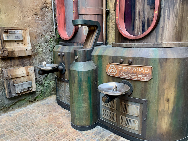 drinking fountain at star wars land