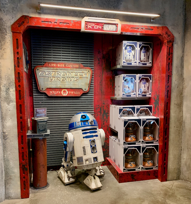 r2-d2 next to droid toys for sale