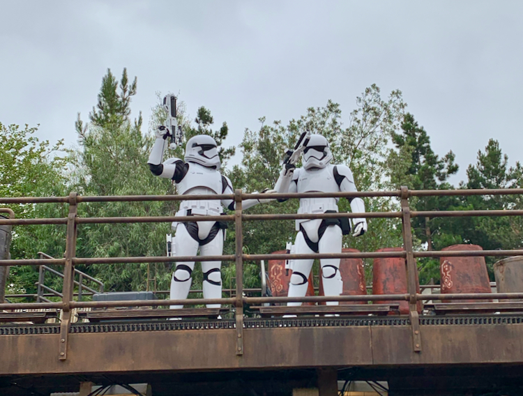 storm troopers on a wall